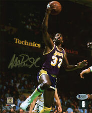 Lakers Magic Johnson Authentic Signed 8x10 Vertical Layup Photo BAS Witnessed