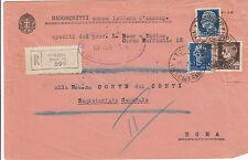 Raccomandata 10 c+35 c +1,25 L IMPERIALE-Torino 16->Roma 8.7.1942-senza lettera