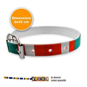 Collare Per Cani e Gatti In Cuoio Con Gancio 2x42 cm Unisex Multicolore