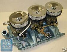 1966 GTO / Bonneville / Catalina Full Size Complete Tri-Power Set Up Cast Iron