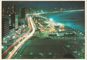 Alte Postkarte - Durban seafront by night