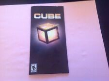 (NO GAME) Cube Sony Playstation Portable PSP Instruction Manual Booklet ONLY