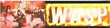 WASP Bumper Sticker Vintage 1985 Blackie Lawless W.A.S.P.