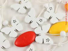 12 Pezzi Decorazioni Fiocco Decori Bomboniere Farfalle Bianche Legno 30mm