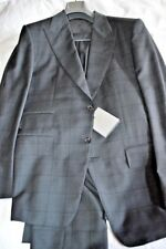 $4k NWT TOM FORD 42 eu52 R Charcoal windowpane Fit A Peak lapel WOOL suit ITALY