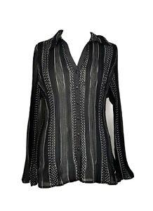 NEW Smart Blouse Black White Spots Size 20 Long Sleeves M&S BNWOT