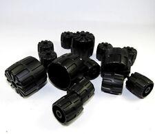 LEGO TECHNIC exponer neumáticos ruedas NEGRO Técnico NAVE ESPACIAL SPACE 14