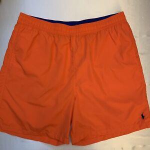 NWOT Polo Ralph Lauren Men's Orange Swim Trunks Lined Size XLT Tall Big New 🔥