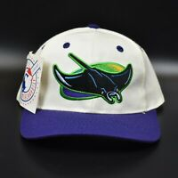 Tampa Bay Devil Rays MLB Vintage 90s Twins Enterprise Spell Out Snapback Cap Hat