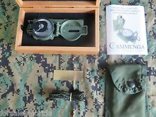 COLLECTIBLE CAMMENGA 3H LENSATIC TRITIUM COMPASS + CHERRYWOOD DISPLAY BOX