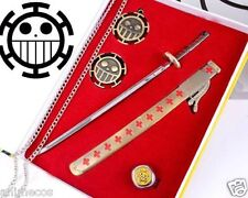 One Piece Trafalgar Law Sword Weapon Emblem Ring Weapon Pendant Necklace 5 pcs