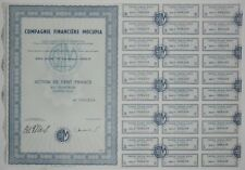 Action - Compagnie Financière MOCUPIA, action de 100 Frs N° 008248