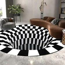 3D Printed Round Vortex Illusion Anti-slip Living room Rug Carpet Floor Door Mat