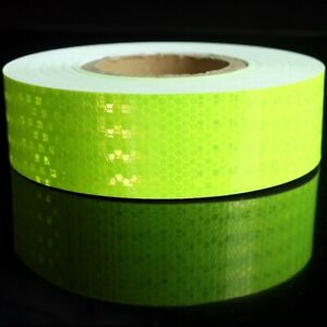 Lime High Intensity Hi Vis Viz Reflective Tape Vinyl Self-Adhesive 5cm×1 Meter