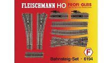FLEISCHMANN 6194 - Spur H0 PROFI-Gleis - Bahnsteig-Set - Neu in OVP