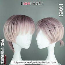 Wig Man Short Hari Japanese Lolita Harajuku Unisex Cospaly Daily Gothic Purple