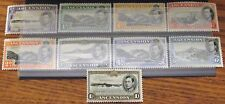 Ascension GV1 1938 definitive x9 stamps. P 13.5 Mint hinged or better. Scarce