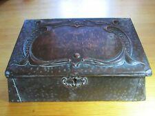 Antique Art Nouveau Copper Trinket Jewellery Box