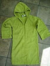 Hooded Towelling Robe/Poncho Towel for beach, bath or swimming Age 10