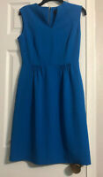 Tahari Arthur S Levine Dress Blue Sheath Sleeveless Size  4
