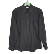 Armani Collezioni Men's Shirt Size 39 Small Black