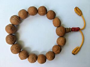 16mm three Eye Bodhiseed Bodhi Seed Buddhachitta Healing Bracelet