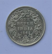 1862 - 5 Dots British India Silver 1 Rupee Coin - Victoria Queen - Nice Garde