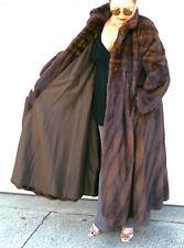 DESIGNER Couture REVILLON Mahogany SWING COAT ~ MAGNIFICENT MINK FUR L - XL