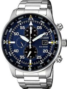 Citizen Crono Aviator Men's Eco Drive Chronograph Watch - CA0690-88L NEW