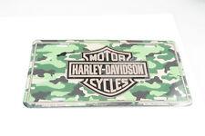 Harley Davidson Camoflauge Aluminum Metal Car License Plate Sign Tag