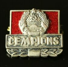 ORIG 1950-s SOVIET LATVIA CHAMPION Silver Pin Badge #460