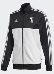 Adidas Men's Juventus 3 Stripes Track Top - Black/White Size XL