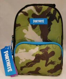 NEW FORTNITE Magnify Green Camouflage Dual Compartment Insulated Kids Lunch Box
