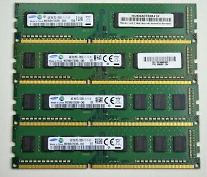 16 GB 4x4GB DDR3 PC3-12800U 1600MHZ  NON ECC UNBUFFERED 240 PIN PC RAM WARRANTY