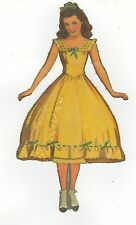 """Gone With the Wind """"Careen O'Hara"""" (Scarlet's Sister)  Cut Paper Dolls/Clothes"""
