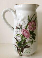 Antique Haviland France Hand Painted Porcelain Pitcher Signed Date 1884 LYONS IA
