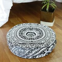 Ombre Mandala Print Cotton Pouffe Chair Cushion Footstool Seat Rest Ottoman 20""