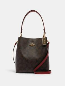 NWT COACH Small Town Bucket Bag In Signature Canvas 2021