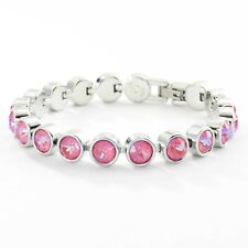 Touchstone Crystal by Swarovski Lotus Pink Delite Ice Bracelet Bnib