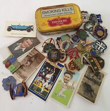 Erinmore Flake Tobacco Tin Cigarette Cards South Africa Lawn Bowls Badges (B63)