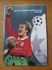 1992/1999 CHAMPIONS LEAGUE: tutti i tempi di giocatori apperances, UEFA rilasciato, A5, 66 pag