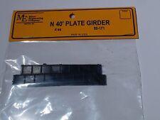 N SCALE Micro-Engineering #80-171 N 40' PLATE GIRDER 4 EACH BIGDISCOUNTTRAINS