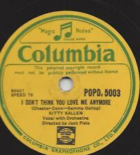 KITTY Kallen canta, Orchestra con jack pleis: Little Things Mean A Lot