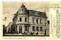 CPA 39 Jura Lons-le-Saunier Caisse d'Epargne Avenue Gambetta animé