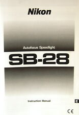 Nikon sb-28 auto focus speedlight instruction manual English instrucciones - (11878)