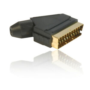 21 Pin Gold Plated Male SCART Plug Connector/Adapter - GOLD Plated Connectors