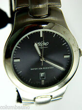 MEN'S MOSSIMO WATCH GREY DIAL/  DATE/SILVER TONE CASE AND BRACELET