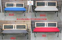 2 Seater 250 GSM +22D Foam Waterproof Outdoor Garden Swing Bench Cushion Set