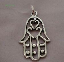 Egyptian made SILVER  -  Hamsa -Hand of Fatima  - Solid   #H212