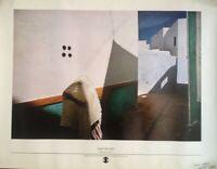 PHOTOGRAPHE HARRY GRUYAERT RARE AUTOGRAPHE SUR AFFICHE 1976 JAMES A.FOX